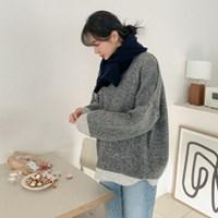빈티지 배색 보카시니트 - knit(2609145)_(1511337)