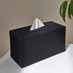 블랭크 블랙 광목 티슈케이스 / 티슈커버 (RM 257001)