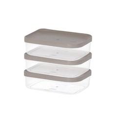 주방 냉장고수납 음식물 식재료 반찬 보관용기2호 3팩_(1133458)