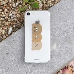 [젤리케이스] 곰세마리 491 폰케이스 아이폰/LG