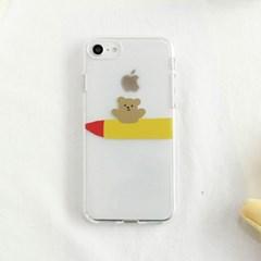 [젤리케이스] 로켓베어(앞) 493 폰케이스 아이폰/LG