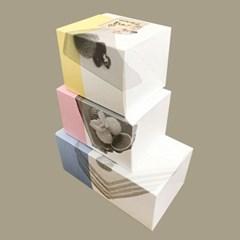 [소행섬] 엔조이 조각케익 박스 25매입 (선물포장상자,디저트포장)