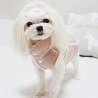 핸드메이드 핑크 퍼 강아지 무스탕