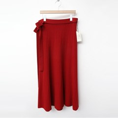 Laine Cashmere Wool Ribbon Long Skirt