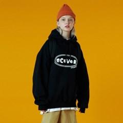 [N]Original foaming printing hoodie-black