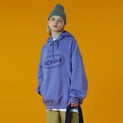 [N]Original foaming printing hoodie-light purple