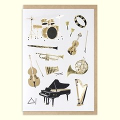 산타 레터프레스 음악여행 카드(SLP19007)