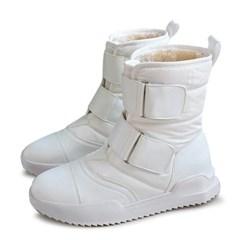 kami et muse Wide velcro strap padding fur boots_KM19w242