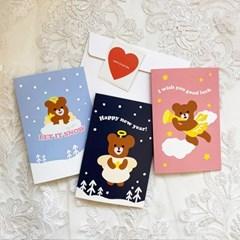 Angel BEAR 시리즈 - 엽서카드 3종