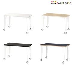 이케아 LINNMON/KRILLE 바퀴달린 이동식 테이블 (12060)/책상/식탁/