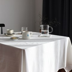 호텔식 내추럴톤 워싱면 식탁보 (크림화이트/오트밀베이지)