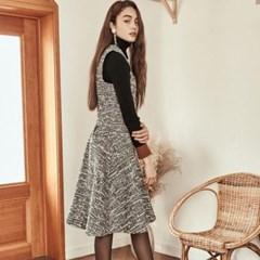 [블랭크] FLARED LONG DRESS 2color