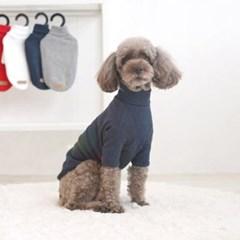 패리스독 강아지 겨울옷 폴라티셔츠 4color