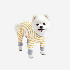 스트라이프 강아지 올인원 3color