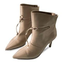 kami et muse Ribbon strap stiletto ankle heel boots_KM19w244
