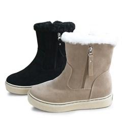 kami et muse Both side zipper suede fur boots_KM19w243