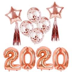 2020 로즈골드 대형풍선 신년 파티세트