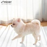 12T 펫플레이 PVC 강아지 애견매트 100x150 그레이