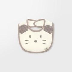 [메르베] 베이지마우스 아기턱받이/침받이_사계절용_(1378528)