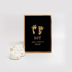 [주문제작] 자수 발도장액자 아기발도장 출산기념품 신생아손발도장