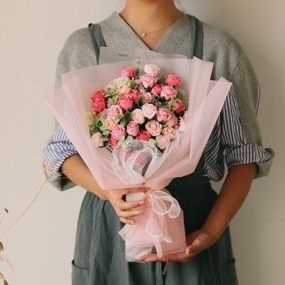 [메세지픽+쇼핑백증정] 프레시어스 자나 장미 50송이 꽃다발