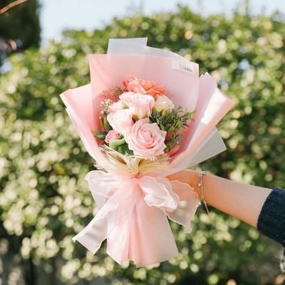[메세지픽+쇼핑백증정] 크리스틴 로즈 비누꽃다발