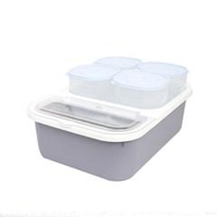 버디 잡곡쌀통 소 3kg+잡곡통 4p