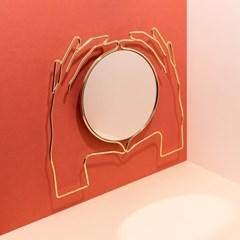 [도이] 엑세리아 벽걸이 거울 골드 라지_(1885852)