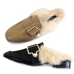 kami et muse Pearl gold belted fur blofers_KM19w251