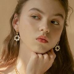 round pearl earrings (2colors)