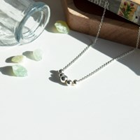 Silver ball necklace (실버 은볼 목걸이) [92.5 silver]