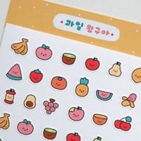과일 왕구마 스티커