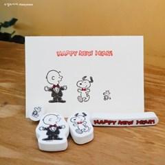 [한정판]Snoopy New Year Stamp Set 스누피 새해 스탬프 세트 #2