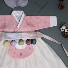 한설한복1692.S 아우라 핑크 당의여아한복