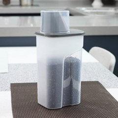 [1+1]사각 곡물통 냉장고용기(중) 1500ml_(1007254)