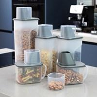 사각 곡물통 냉장고용기 5조 세트