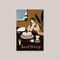 캘리엠 Sweet Holidays 캘리그라피 카드