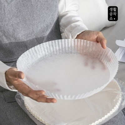 [생활공작소] 에어프라이어용 접시형 종이호일 50매 x 2입(중/대형)