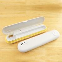 마이래빗 휴대용 칫솔살균기-옐로우화이트/AA건전지+USB케이블포함