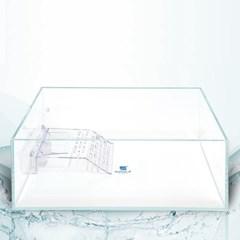 크리스탈 디아망유리 거북이어항 40x25x16 두께5mm_(2477576)