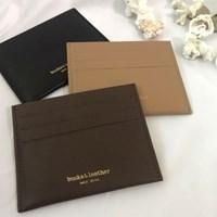 [rube X bucks&leather] 소가죽 플랫 카드 지갑 (3color)