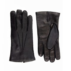 Peccary Leather Gloves For men_Black(Nero)