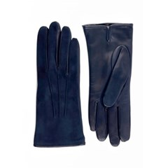 Suede Leather Gloves For Women_Navy