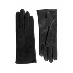 Suede Leather Gloves For Women_Black(Nero)