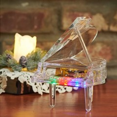 LED 투명 그랜드 피아노 오르골