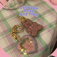[뮤즈무드] vintage bear key ring (키링)