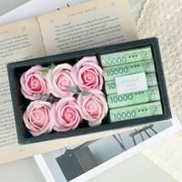 핑크 용돈 플라워 박스 - 비누