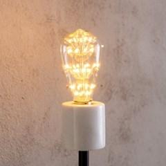 스피아노 LED 눈꽃 가지 전구 ST64 2W