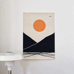 태양 일러스트 패브릭 포스터 / 가리개 커튼