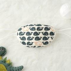 콩닥콩닥 아동용 방한 마스크 이어밴드 하늘고래
